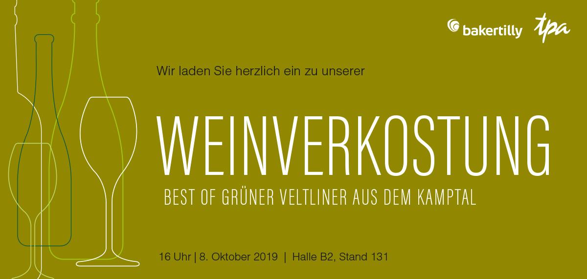 EXPO REAL Immobilien München TPA Steuerberatung Baker Tilly Germany Weinverkostung