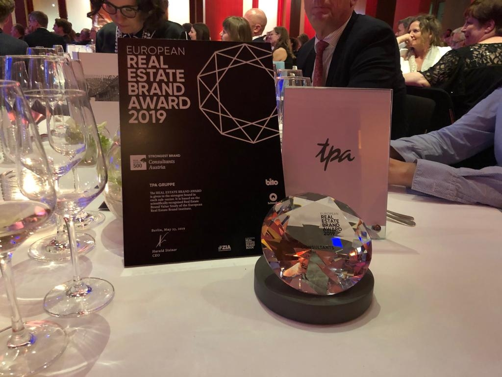 Real Estate Brand Awards Best Real Estate Consultant in Austria - The TPA Group