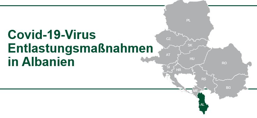COVID 19 Virus Hilfe für Unternehmen in Albanien