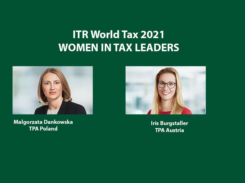 tpa women in tax leaders itr world ranking 2021